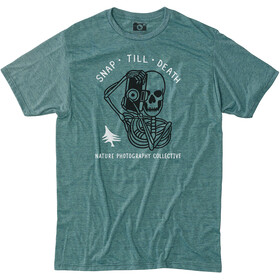 Hippy Tree Morti Camiseta Hombre, heather teal